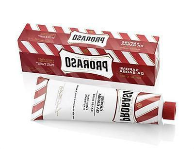 shaving cream sandalwood 150ml tube red