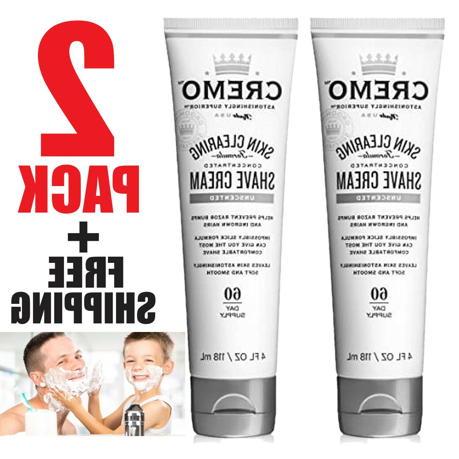 skin clearing shave cream 60 day supply