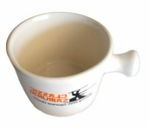 Classic Samurai Travel Deluxe Porcelain Mug Bowl,Cream lather Ceram