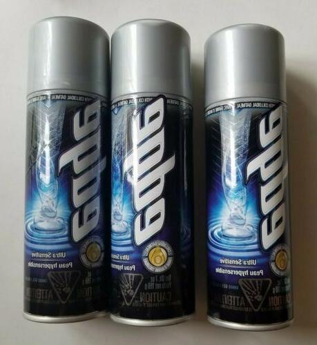 Ultra Sensitive Shave Gel Men Shave Gel by Edge, 7 Ounce