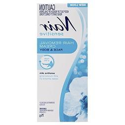 New Look Nair Sensitive Hair Removal Cream 75g with 1PCS Chi