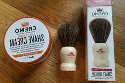 CREMO Lot 2 Shave Brush Cruelty Free Lathering Cream Tub San