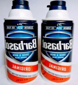 Lot Barbasol Regular Thick and Rich Shaving Cream Original 1