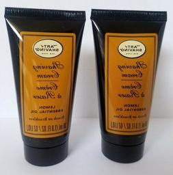 2 pk The ART of SHAVING Shaving Cream Lemon Essential Oil 1o