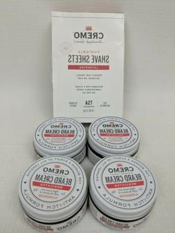 Lot of 4 Cremo Medicated Beard Cream Anti-Itch 2 OZ EXP 12/2
