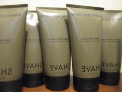 Lot of 5 American Crew For Men Herbal Shave Cream 5.1-Ounce