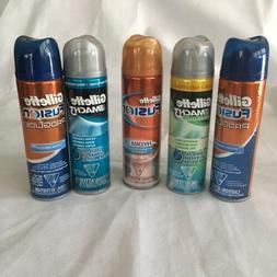 Lot of 5 Gillette Mach 3 Fusion Shaving Gel Shaving Cream 7o
