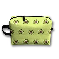 AZNM Lovely Avocado Travel Large Makeup Bag Train Case Toile