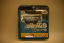 Gillette Mach3 Refill Cartridges 10 count Razor Blade Cartri