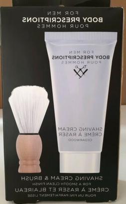 Men's Body Prescriptions Shaving Cream & Brush Set - cedarwo