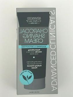Advanced Clinicals Mens Charcoal Shaving Cream Soothing & De
