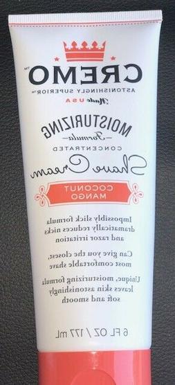 Cremo Coconut Mango Moisturizing Shave Cream, Astonishingly