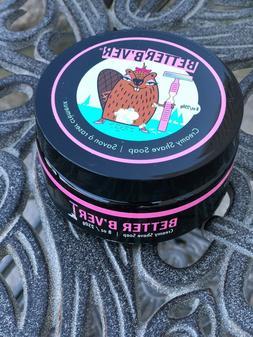 NEW Better B'ver Cream Shave Soap Creamy 8 oz Vegan Cruelt