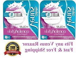 Gillette Venus & Olay Sugarberry Scent Razor Blade Refills,