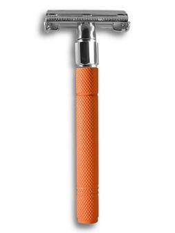 Orange Safety Razor Double Edge DE Comes w Shave Cream & 30