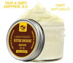 ORGANIC SHAVING Cream Shea Frankincense Ginger Natural Softe