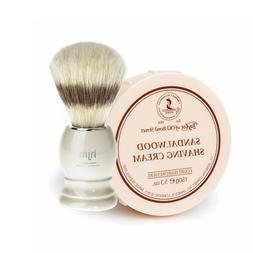 Sandalwood Shaving Cream Bowl 150g + Shaving Brush