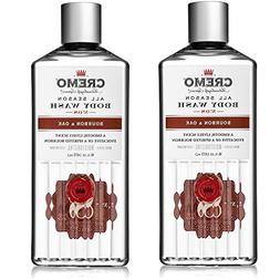 Cremo All Season Body Wash, Bourbon & Oak, 16 oz. 2-pack