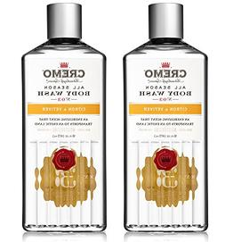 Cremo All Season Body Wash, Citron & Vetiver, 16 oz. 2-pack