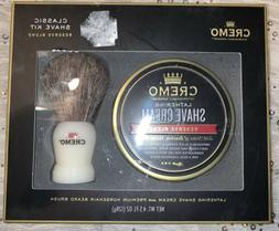 Cremo Shave Cream & Brush Set - 4.5 fl oz, pack of 1