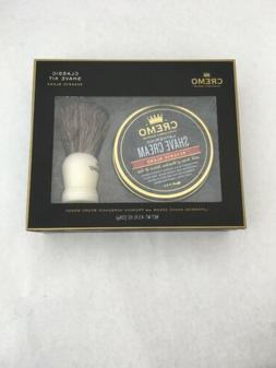 Cremo Shave Cream & Brush Set New
