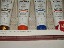 Cremo Shave Cream Sampler 4- Tubes New Sealed