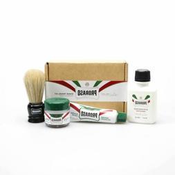 Proraso Travel Shave Kit - Pre-shave, Shaving Cream, Balm &