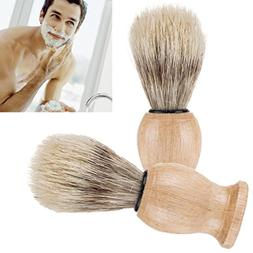 LtrottedJ Men Shaving Bear Brush,Best Badger Hair Shave Wood