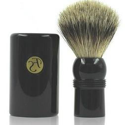 FS Shaving Brush - Best Badger Travel Brush with Ebony Case