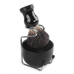 Shaving Brush and Bowl, AKUNSZ Shave Kit: Pure Badger Shavin