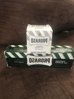 Proraso Shaving cream and pre shaving cream lot of2