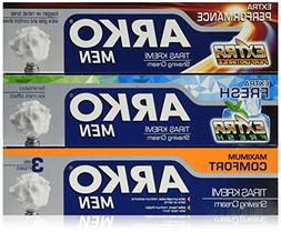 Arko Shaving Cream Variety Pack, Extra Fresh/Extra Performan