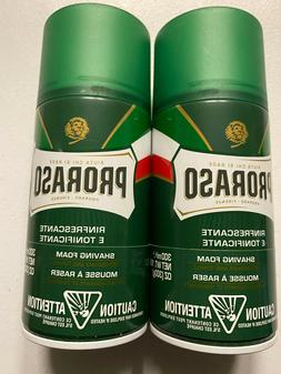 PRORASO Shaving Foam REFRESHING & TONING 10.7oz - 2 PACK DUO