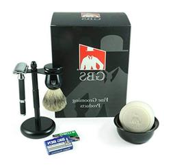 5 Piece Shaving Set -Comes with Gift Box- Rubber Coated Long