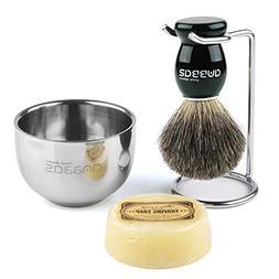 Shaving Set, 4in1 Anbbas Men Fine Badger Bristle Shave Brush
