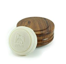 GBS Wooden Shaving Bowl with Lid Stores Shaving Soap Easy to