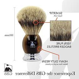 GBS 100% Silvertip Badger Bristle Men's Shaving Brush Faux H