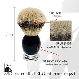 GBS Silvertip Bristle Badger Brush Generates A Proper Lather