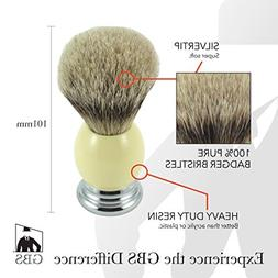 GBS Silvertip Badger Bristle Shave Brush with Free stand