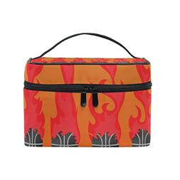 MaMacool Six Basketball On Fire portable Cosmetic Bags Trave