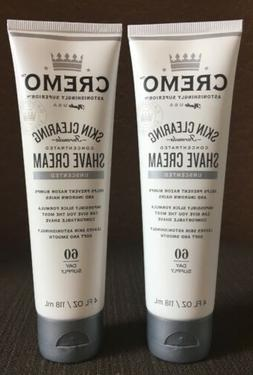 Cremo Skin Clearing Shave Cream Unscented 4 fl oz  2 PACK