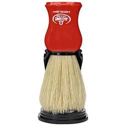 Men's Soft Bristle Red Shaving Brush w/ Stand Grooming