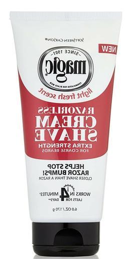 Magic Razorless Cream Shave Extra Strength 6 Oz.