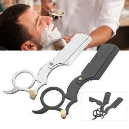 Straight Edge Barber Razor Folding Shaving Shave Knife Cream