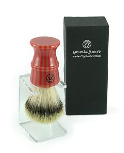 100% Synthetic Purtech Stripey Brush with free Stand - Our n