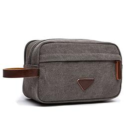 Men's Travel Toiletry Organizer Bag Canvas Shaving Dopp Kit