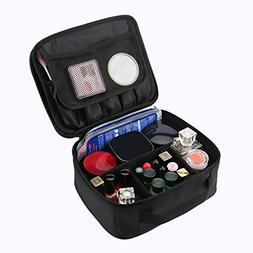 Travel Makeup Train Case, Professional Cosmetic Bag Portable