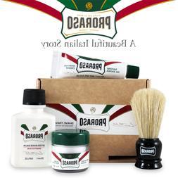 Proraso Travel Shave Kit Shaving Cream Pre Shave Balm & Brus