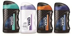 Arko After Shave Balm Variety Pack, Aqua/Ice Mint, 4 Count