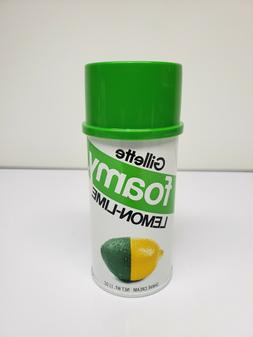 VINTAGE Gillette Foamy Lemon-Lime Shave Cream 11oz - NEW OLD